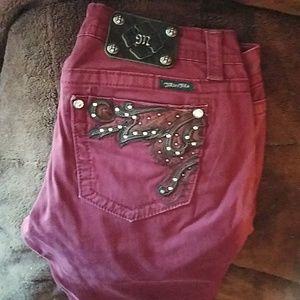 Maroon Miss Me pants